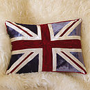 Red and Blue Union jack  cushion