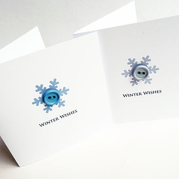 Winter Wishes: Snowflake Button Christmas Card Pack