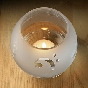 Musical Glass Tealight holder - candlesticks