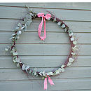Fresh eucalyptus and twig wreath - large