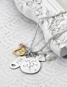 Family Tree Personalised Necklace - necklaces & pendants