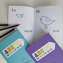 Abc books and page examples