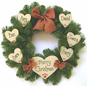 Personalised Christmas Wreath - wreaths