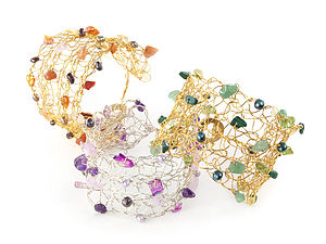 Crochet Cuffs in Various Colours - bracelets & bangles