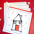Inky Home Christmas pack of cards