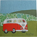 Orange Camper Greetings Card