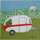 Retro Caravan Greetings Card