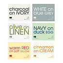 Choice of 6 colour combinations