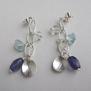 Dewdrop And Leaf Mini Waterfall Earrings - earrings