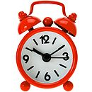 Mini working alarm clock red