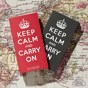 Keep Calm & Carry On Chocolate Bar - chocolates & confectionery