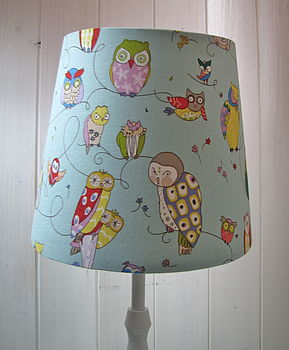 sweet owl fabric lampshades~various sizes