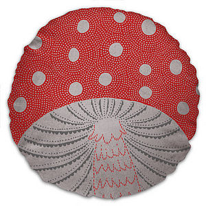 Toadstool Cushion - Red - cushions