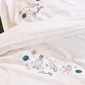 Personalised Space Duvet Cover