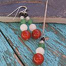Gemstone earrings and necklace