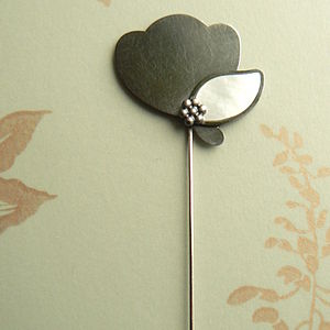 Pearly Leaf Pin - pins & brooches