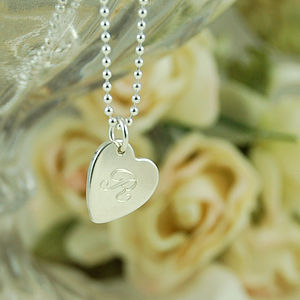 Personalised Vintage Style Initial Necklace - wedding jewellery