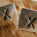 Personlised square cuff links
