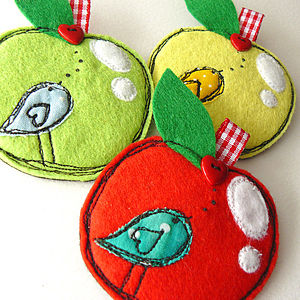 'Happy Apple' Brooch
