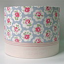 Personalised handmade lampshade in various colours