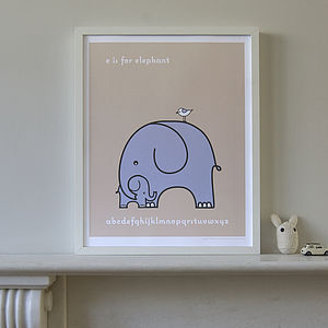 'Nursery Favourites' Elephants Picture - pictures & prints for children