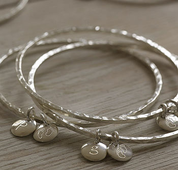 Personalised Silver My Baby Bangle
