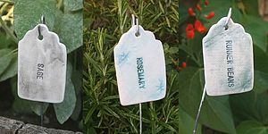Personalised Ceramic Plant Labels - garden
