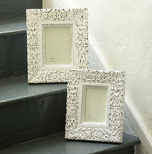 Aster Carved Photo Frame