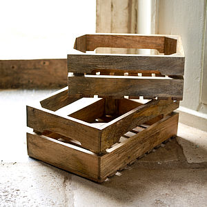 Ahanti Wood Storage Box