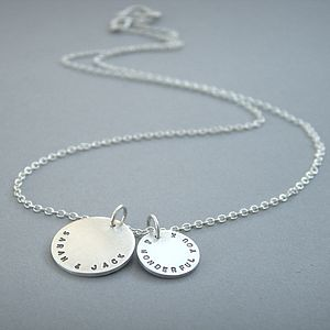 Personalised Message Necklace - necklaces & pendants