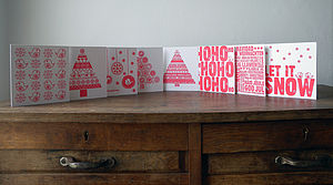 Letterpress Christmas Card Pack - cards & wrap