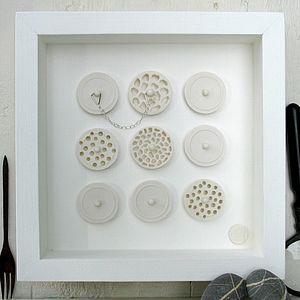 Nine Porcelain Plugs Framed Artwork - contemporary art