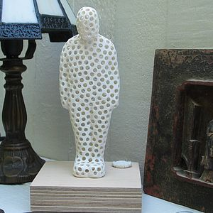 Porcelain Man Of Holes Sculpture - art-lover