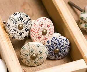 Fair Trade Daha Ceramic Knobs