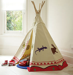 Canvas Tipi Play Tent - outdoor toys & games