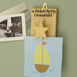 'A Picture By My Grandchild' Peg Board - bedroom