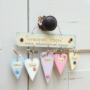 Personalised 'Grandma's House...' Sign - inspired by family