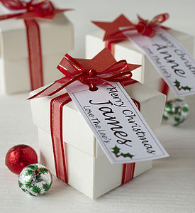 Personalised Christmas Chocolate Box - table decorations