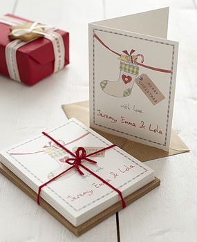 Personalised Christmas Stocking Card