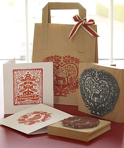 Handmade Christmas Rubber Stamp - christmas craft ideas