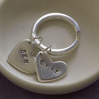 Personalised Sterling Silver Key Ring