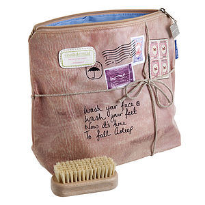 'Wash Your Face' Wash Bag - bags & purses
