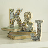 Bespoke Wooden Map Letters - anniversary gifts