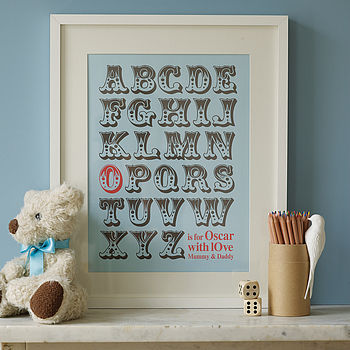 Personalised Alphabet Art Print