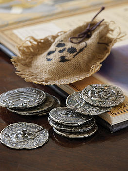 Handmade Pewter Pirate Coins