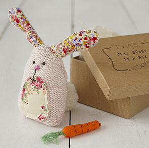 Personalised Bunny In A Box - soft toys & dolls