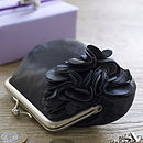 Black Ruffle with matt nickel clasp