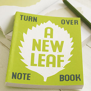 'A New Leaf' Notebook - eco-conscious