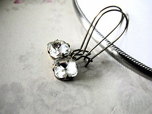 Vintage German Glass Earrings - women's jewellery