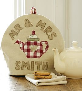 Personalised Mr And Mrs Tea Cosy - 2nd anniversary: cotton
